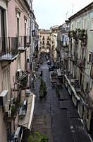 Street in San Camillo ai Crociferi Neighborhood, Catania, Sicily, Italy.