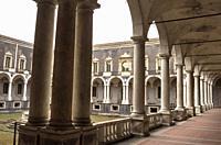Cloister of the Monastery Benedictine, Catania, Sicily, Italy.