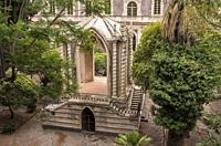 The Caffeaus in Cloister of the Monastery Benedictine, Catania, Sicily, Italy.