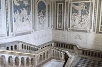 Monumental staircase, Monastery Benedictine, Catania, Sicily, Italy.