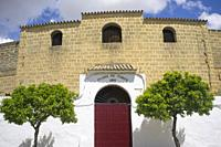 Osuna historic bullring. Main entrance. Seville, Spain.