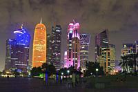 Doha at Night, Qatar.