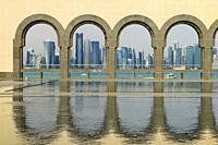 Doha Skyline as Seen from Museum of Islamic Art, Qatar.