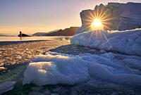 Icebergs, Scoresbysund, Iceland.