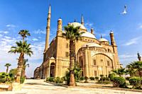 The Great Mosque of Muhammad Ali Pasha or Alabaster Mosque in the Citadel of Cairo in Egypt.