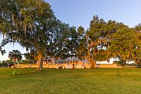 Early morning light on Capernaum Lakeside Lodge also Capernaum Inn Retreat Center built in 1925 in Lake Wales Polk County Floridda in the United State...