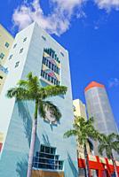 Art Deco District, South Beach, Miami, Florida, USA.