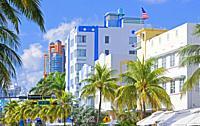 Ocean Drive, South Beach, Miami, Florida, USA.