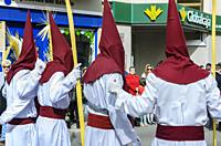 Cuenca, Spain.14 th April,2019. Parade procession Palm Sunday Hosanna on 14 th April 2019.