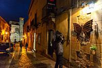 Calle Mayor (Main street). Sigüenza. Ruta del Románico Rural. Guadalajara Province, Castile-La Mancha, Spain.