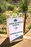 Cinco De Mayo event sign in Tucson, AZ.