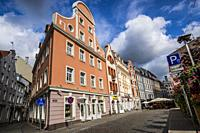 The architecture of Riga. Old Town. Riga, Latvia, Baltic States, Europe.