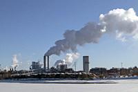UPM paper factory in Kaukas Lappeenranta Finland.