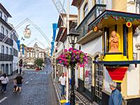 Street decoration of the festival Sanjoaninas, the biggest festival of the Azores. Capital Angra do Heroismo Capital Angra do Heroismo, the historic c...