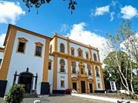 Palacio dos Capitaes Generais. Capital Angra do Heroismo, the historic center is part of UNESCO world heritage. Island Ilhas Terceira, part of the Azo...