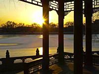 Beihai Park in Winter. . Beijing. . China.