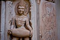 Stone carving in a jain temple under construction at Kundalpur ( Madhya pradesh, India).
