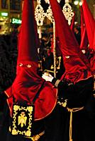 The Holy Week. Procession. Malaga. Spain.