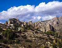 El Castell de Guadalest. Alicante. Valencian Community, Spain.