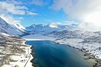 Nordlenangen, Lyngen peninsula, Troms county, Norway, Europe