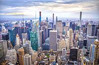 USA, New York City, Manhattan, Midtown Mahattan Skyline