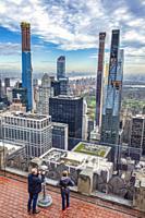 USA, New York City, Manhattan, Midtown Mahattan Skyline, Central Park