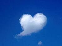 Cloud as heart.