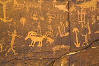 Rochester Rock Petroglyph Panel, Near Emery, Utah, USA