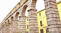 Roman Aqueduct of Segovia, 1st Century A. D. , World Monument Fund, Segovia, UNESCO World Heritage Site, Castilla y León, Spain, Europe.