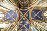 Decke der Kirche Saint-Germain-des-Pres, Paris, Frankreich | Saint-Germain-des-Pres church ceiling, Paris, France.