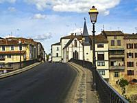 Pont des Cieutat, Villeneuve-sur-Lot, Lot-et-Garonne Department, Nouvelle Aquitaine, France.