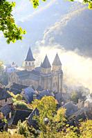 France, Aveyron, Conques, labelled Les Plus Beaux Villages de France (The Most Beautiful Villages of France), stop on El Camino de Santiago, village a...