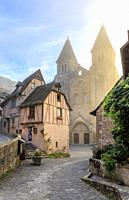 France, Aveyron, Conques, labelled Les Plus Beaux Villages de France (The Most Beautiful Villages of France), stop on El Camino de Santiago, Sainte Fo...