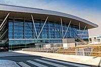Lavacolla airport, Santiago de Compostela, La Coruña province, Region of Galicia, Spain, Europe.