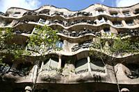 Gaudi's La Pedrera building, Barcelona, Spain.