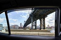 Manhattan Bridge Through Taxi