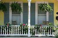 Quaint house in Portsmouth, Virginia, USA.