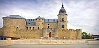 Simancas castle, Vallodolid Province, Castile and Leon, Spain. The castle is now used as an archive of Iberian history. It contains some 33 million do...