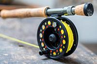 Saltwater fly fishing fly rod and reel.