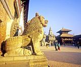 Durban Square, Bhaktapur, Nepal, Asia.