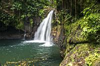 Waterfall Saut de la Lezarde, Basse-Terre, Guadeloupe, Carribean, France