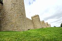 The wall of Ávila is a Romanesque military fence that surrounds the old town of the Spanish city of Ávila, capital of the homonymous province, in the ...