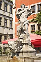 The Neptune Fountain was built in 1756 by the stonemason Johann Georg Mattausch. The fountain is located at Untermarkt (Lower Market square) in Goerli...