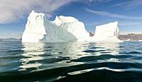 Iceberg in the Uummannaq Fjord System. America, North America, Greenland, Denmark.