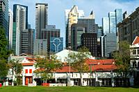 Singapore, Republic of Singapore, Asia - A view of the city skyline in the central business district of the city-state.
