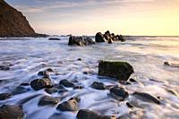 Duckpool on the Hartland Heritage Coast, North Cornwall, England.