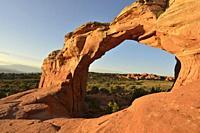 Broken Arch, Arches National Park, Utah.