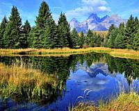 Schwabacker's Landing, Grand Teton National Park, Wyoming, United States.