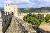 The Ramparts and the Keep Tower of Castle, Garrison Border Town of Elvas and its Fortifications, Portalegre District, Alentejo Region, Portugal, Europ...