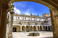 Cloister of Micha, Convent of Christ in Tomar, Santarem District, Centro Region, Portugal, Europe.